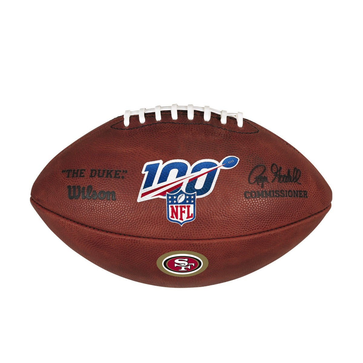 NFL 100 THE DUKE DECAL NFL FOOTBALL - SAN FRANCISCO 49ERS