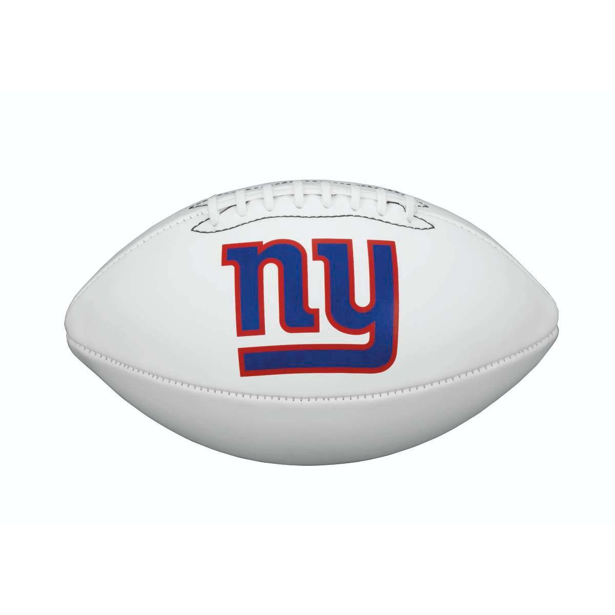 NFL TEAM LOGO AUTOGRAPH FOOTBALL - OFFICIAL, NEW YORK GIANTS