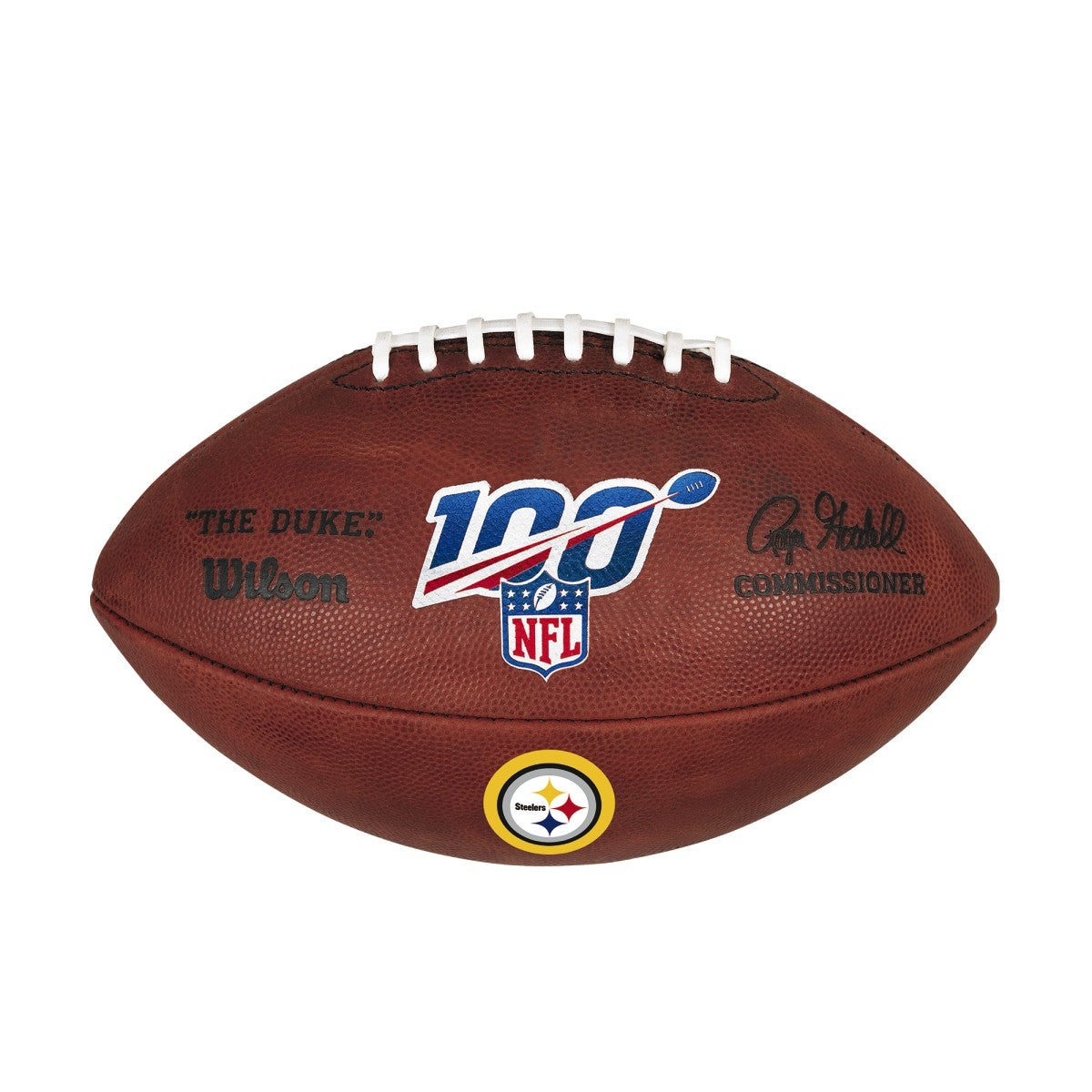 NFL 100 THE DUKE DECAL NFL FOOTBALL - PITTSBURGH STEELERS