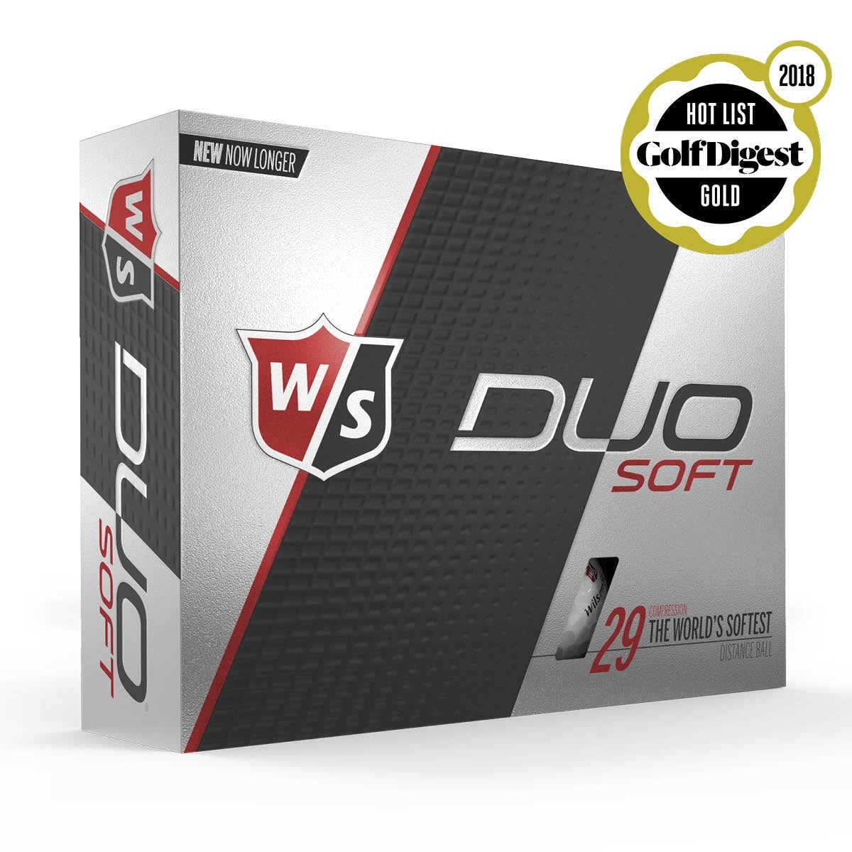 Wilson Staff Duo Soft - White, 12 Pack
