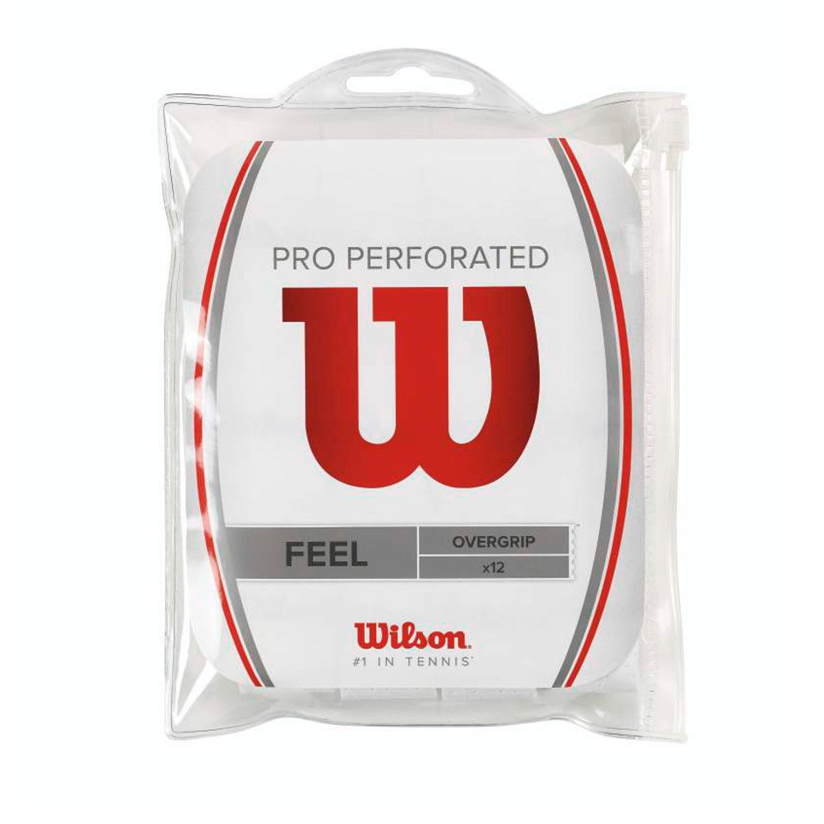 PRO OVERGRIP PERFORATED - WHITE, 12 PACK
