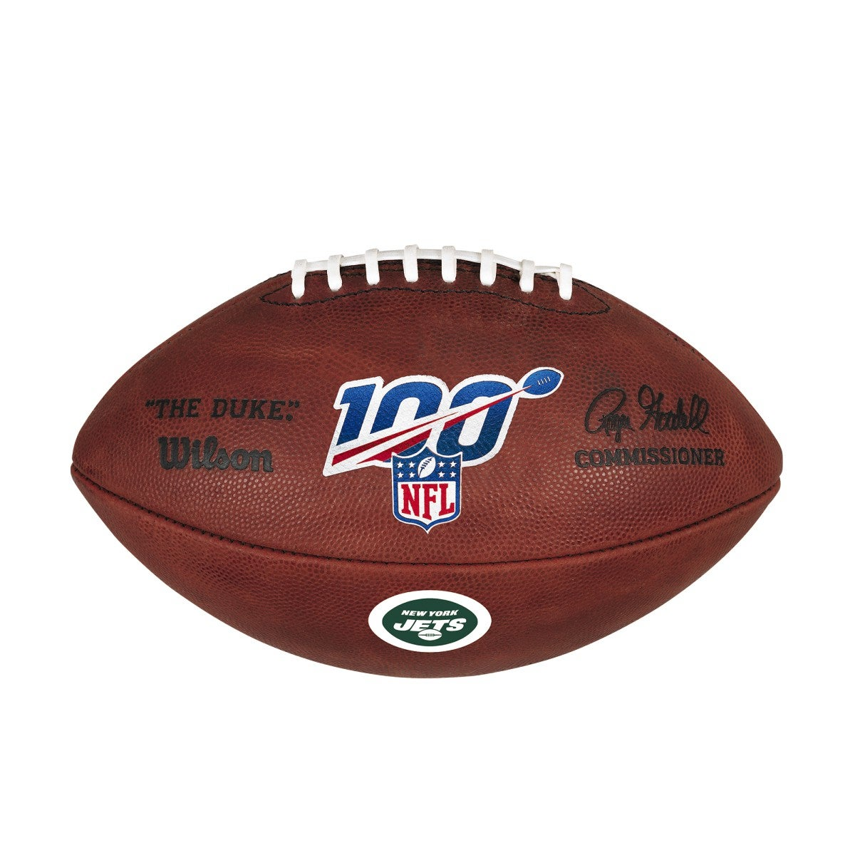 NFL 100 THE DUKE DECAL NFL FOOTBALL - NEW YORK JETS