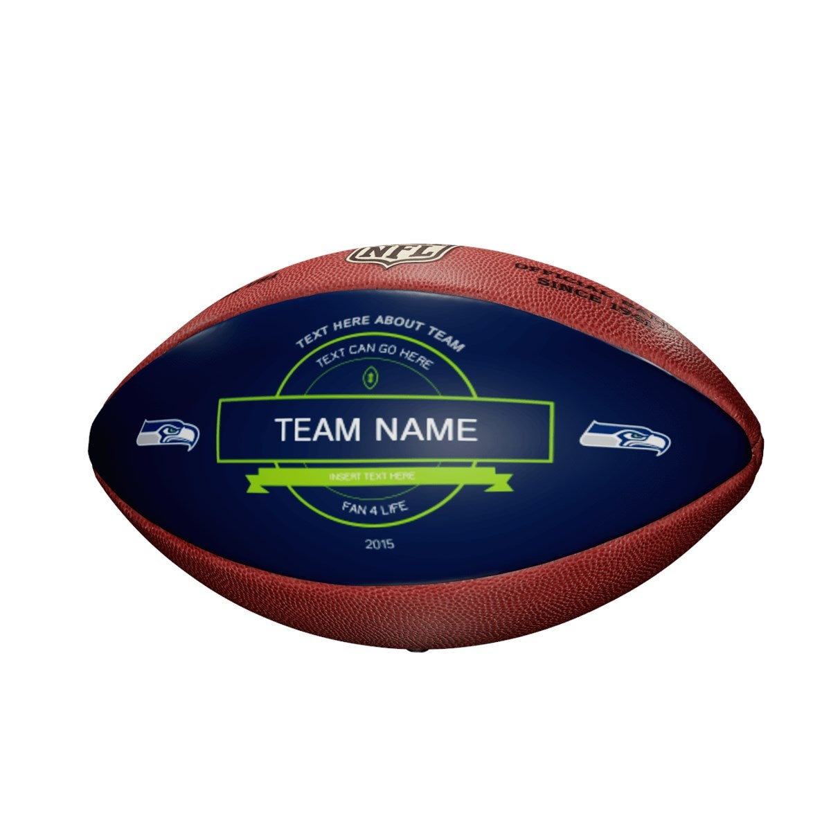 Personalized NFL Seattle Seahawks Ultimate Fan Football