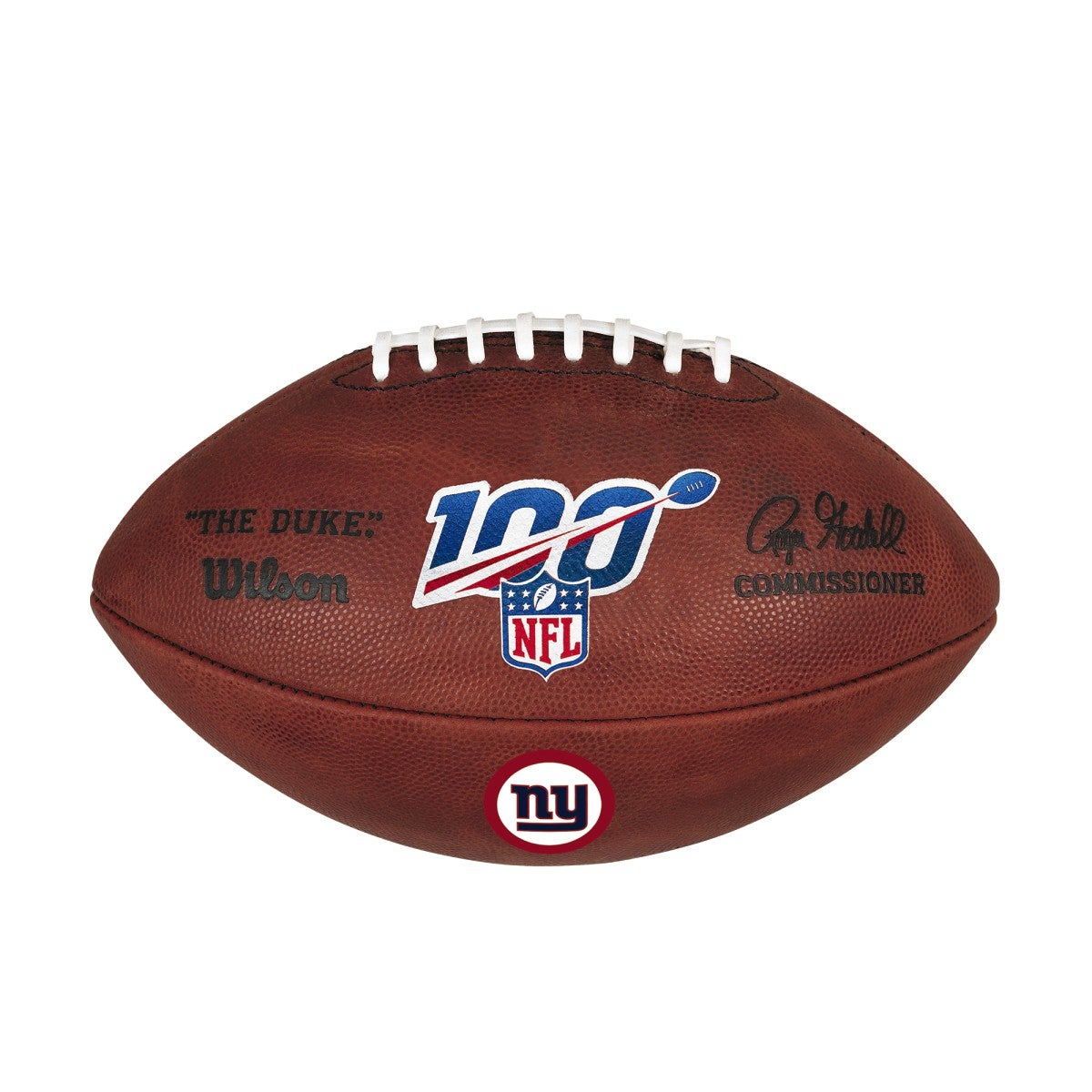 NFL 100 THE DUKE DECAL NFL FOOTBALL - NEW YORK GIANTS