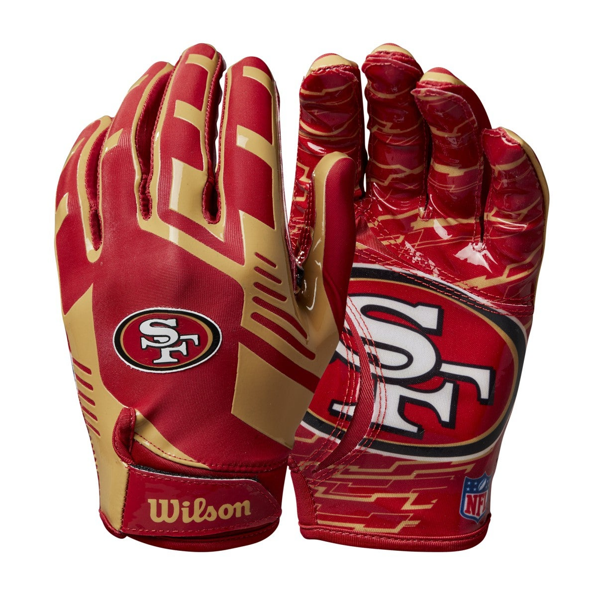 NFL Stretch Fit Receivers Gloves -  San Francisco 49ers