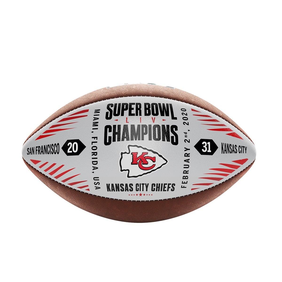 Super Bowl LIV Commemorative Leather Championship Football
