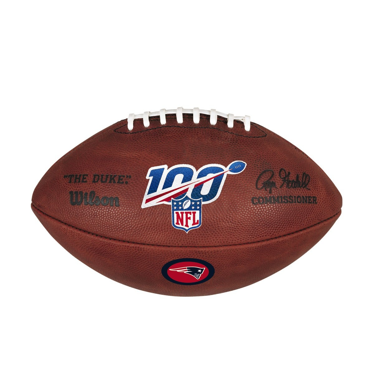 NFL 100 THE DUKE DECAL NFL FOOTBALL - NEW ENGLAND PATRIOTS