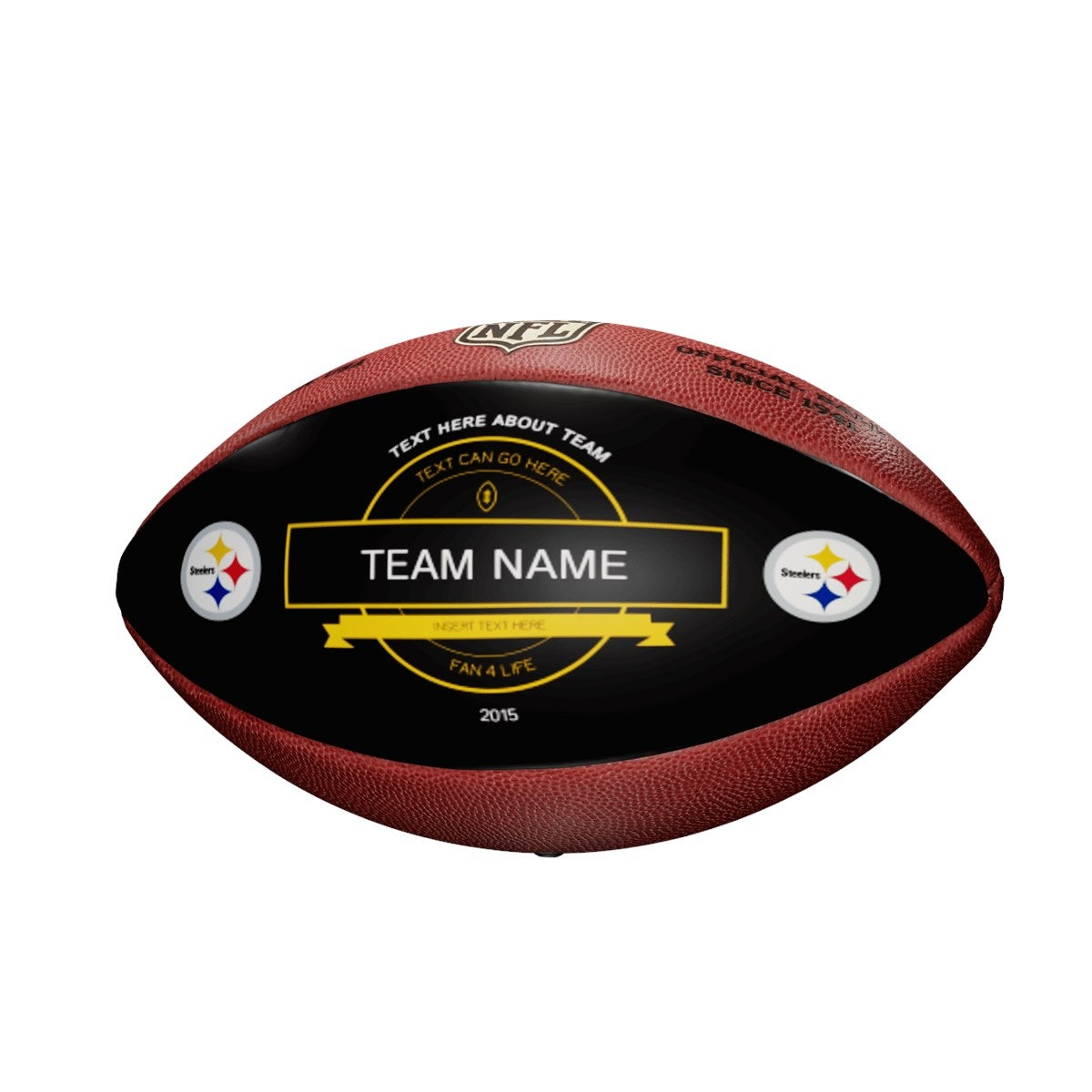 Personalized NFL Pittsburgh Steelers Ultimate Fan Football
