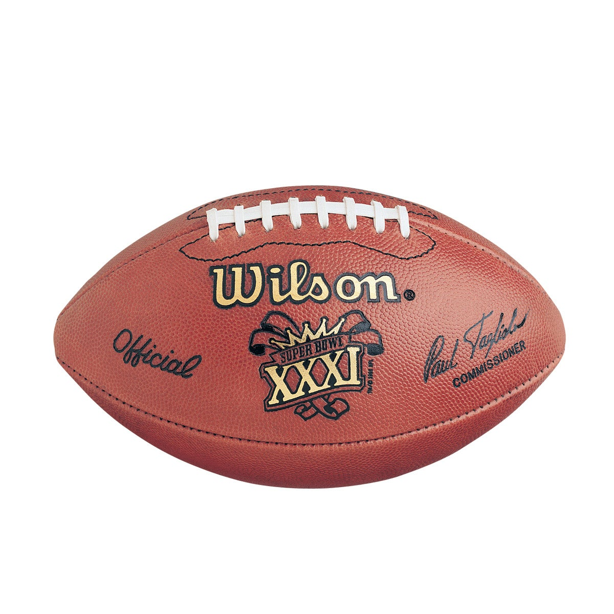 NFL Super Bowl XXXI Leather Game Football (Pro Pattern)