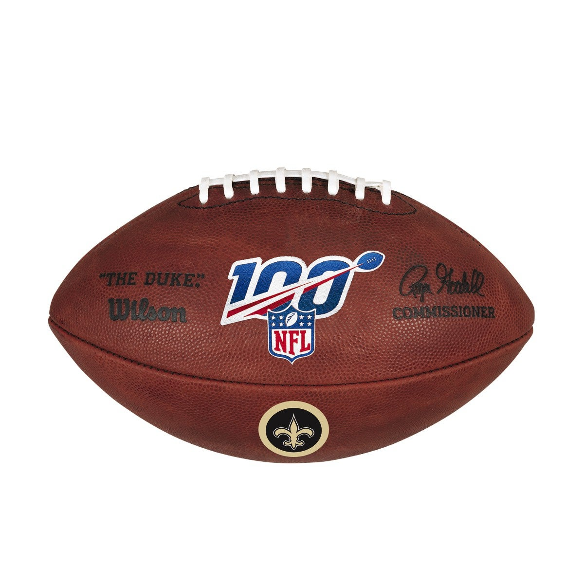 NFL 100 THE DUKE DECAL NFL FOOTBALL - NEW ORLEANS SAINTS