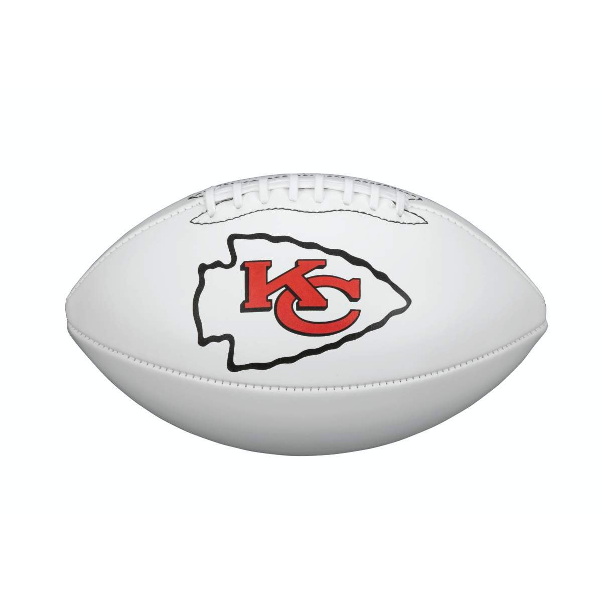 NFL TEAM LOGO AUTOGRAPH FOOTBALL - OFFICIAL, KANSAS CITY CHIEFS