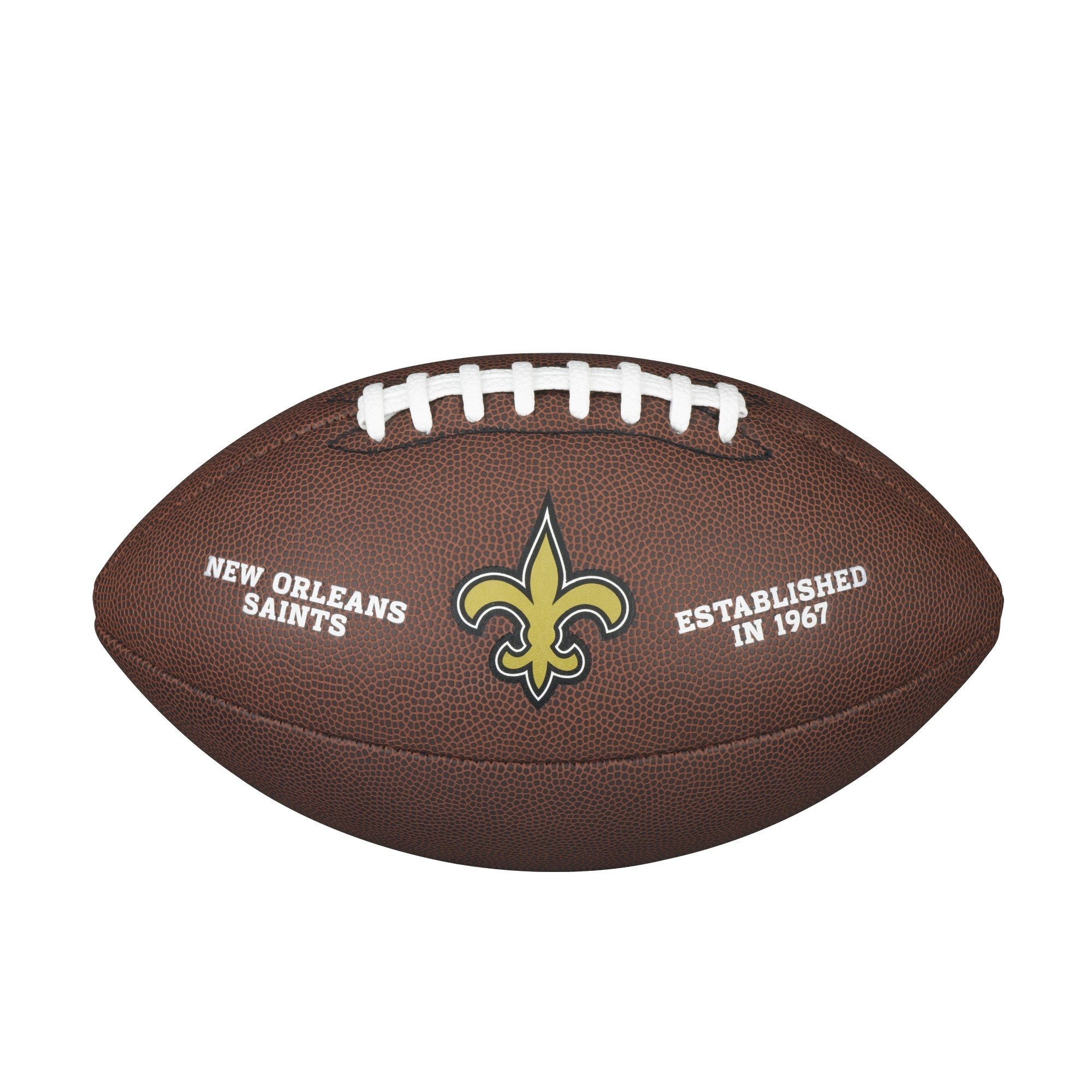 NFL TEAM LOGO COMPOSITE FOOTBALL - OFFICIAL, NEW ORLEANS SAINTS