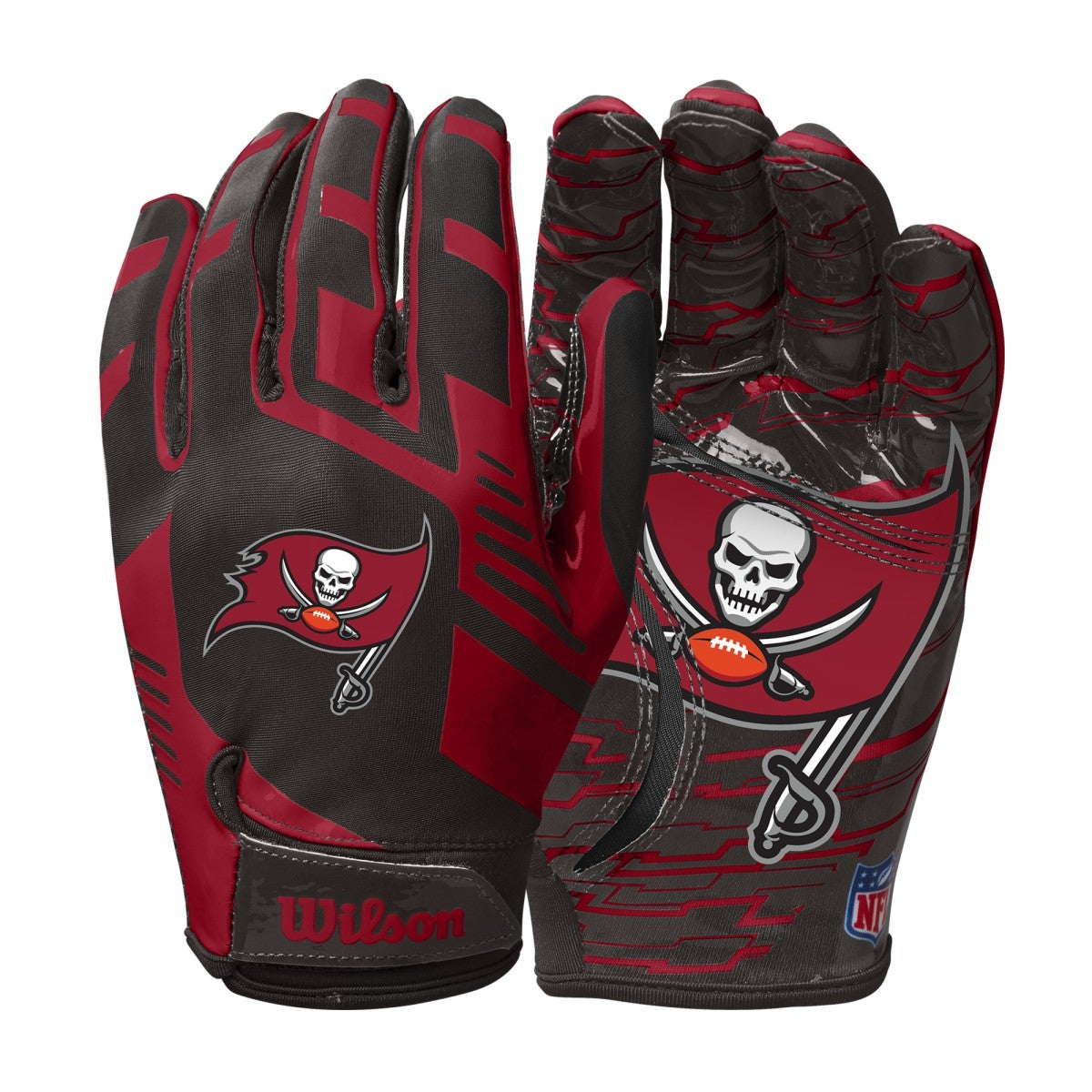 NFL Stretch Fit Receivers Gloves - Tampa Bay Buccaneers
