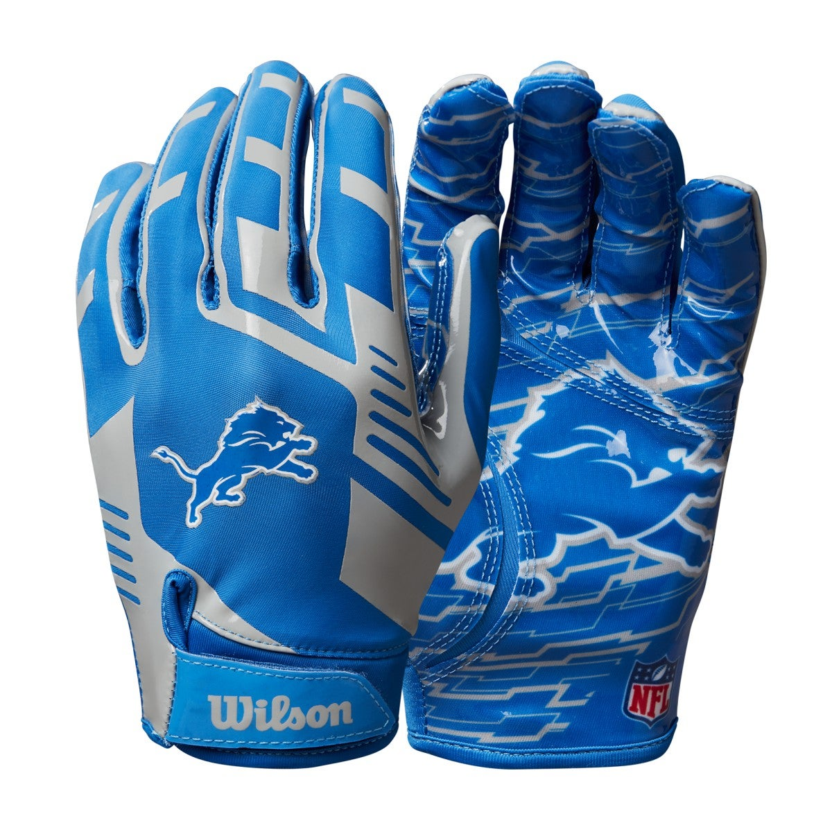 NFL Stretch Fit Receivers Gloves - Detroit Lions