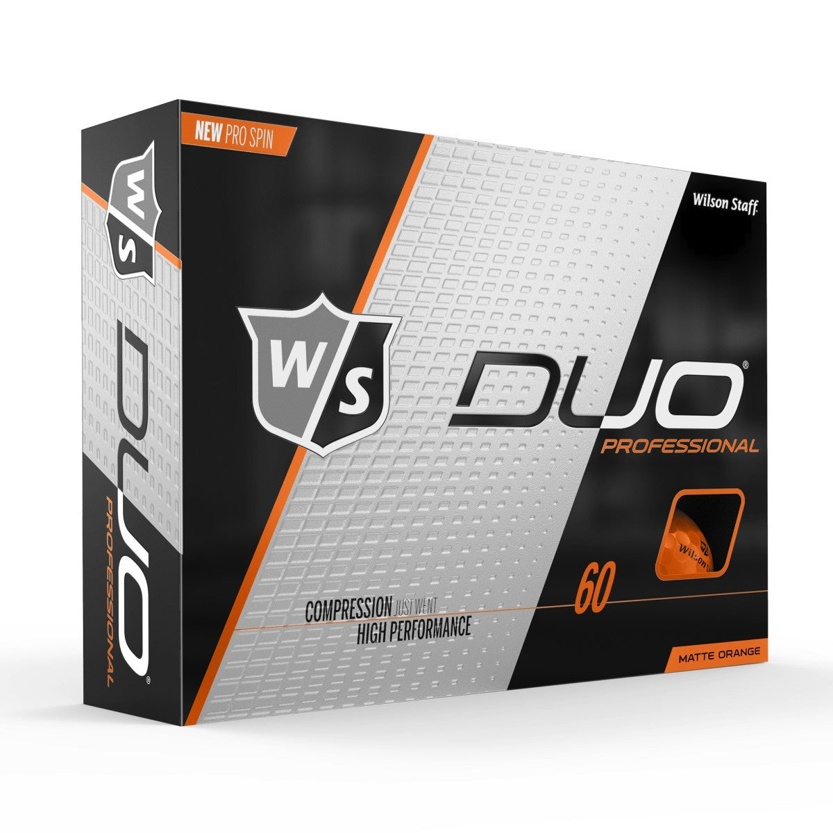 Wilson Staff Duo Pro Orange Matte Golf Balls