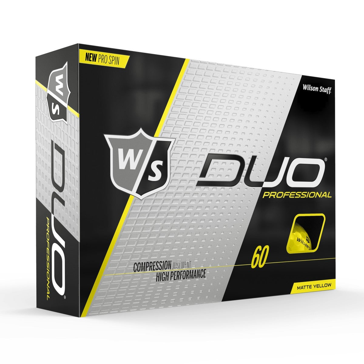 Wilson Staff Duo Pro Yellow Matte Golf Balls