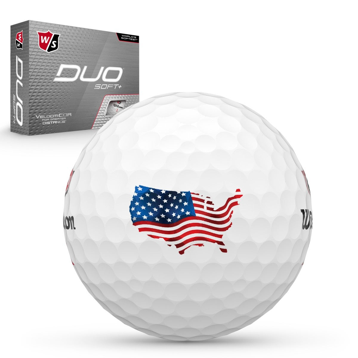 DUO Soft+ USA Golf Balls