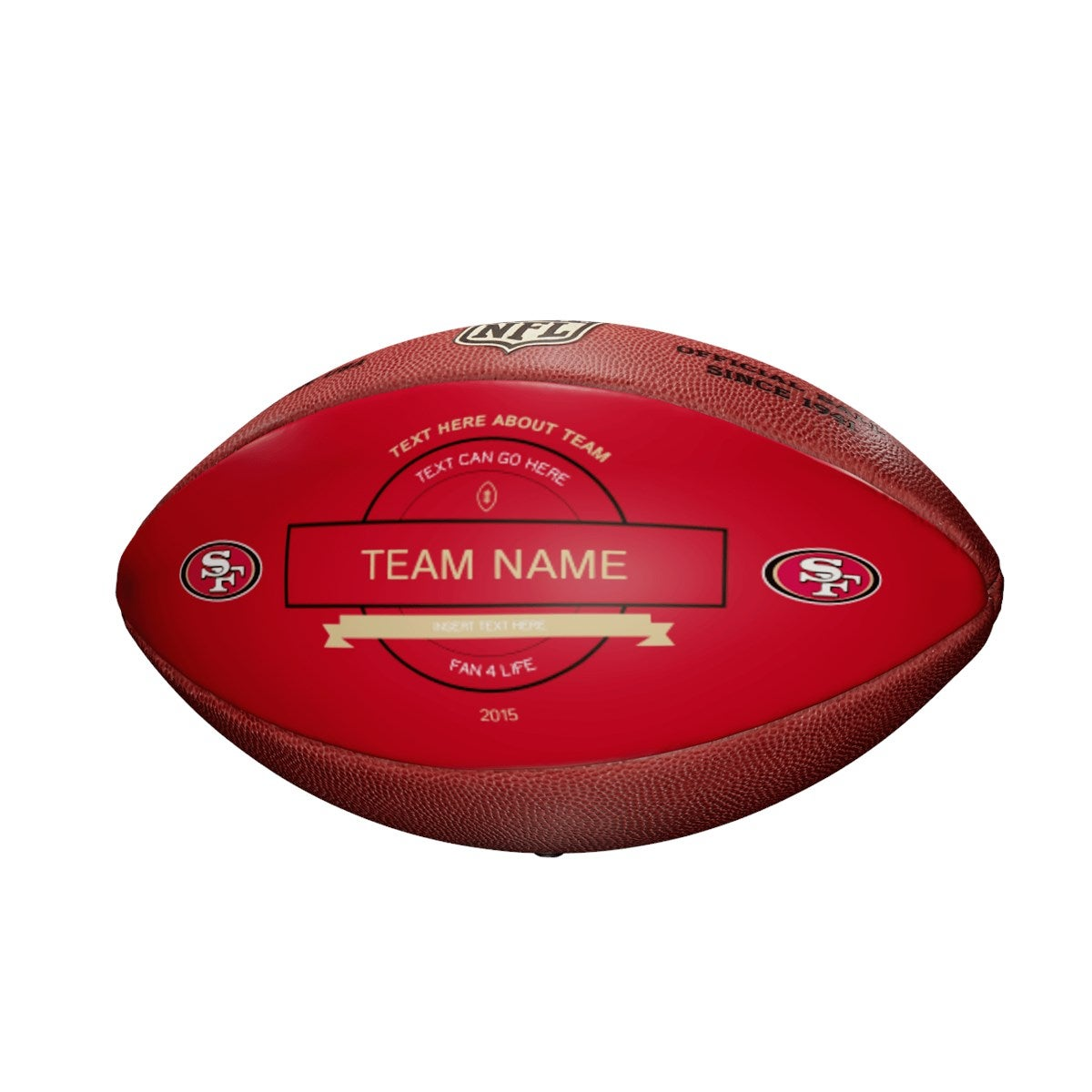 Personalized NFL San Francisco 49ers Ultimate Fan Football