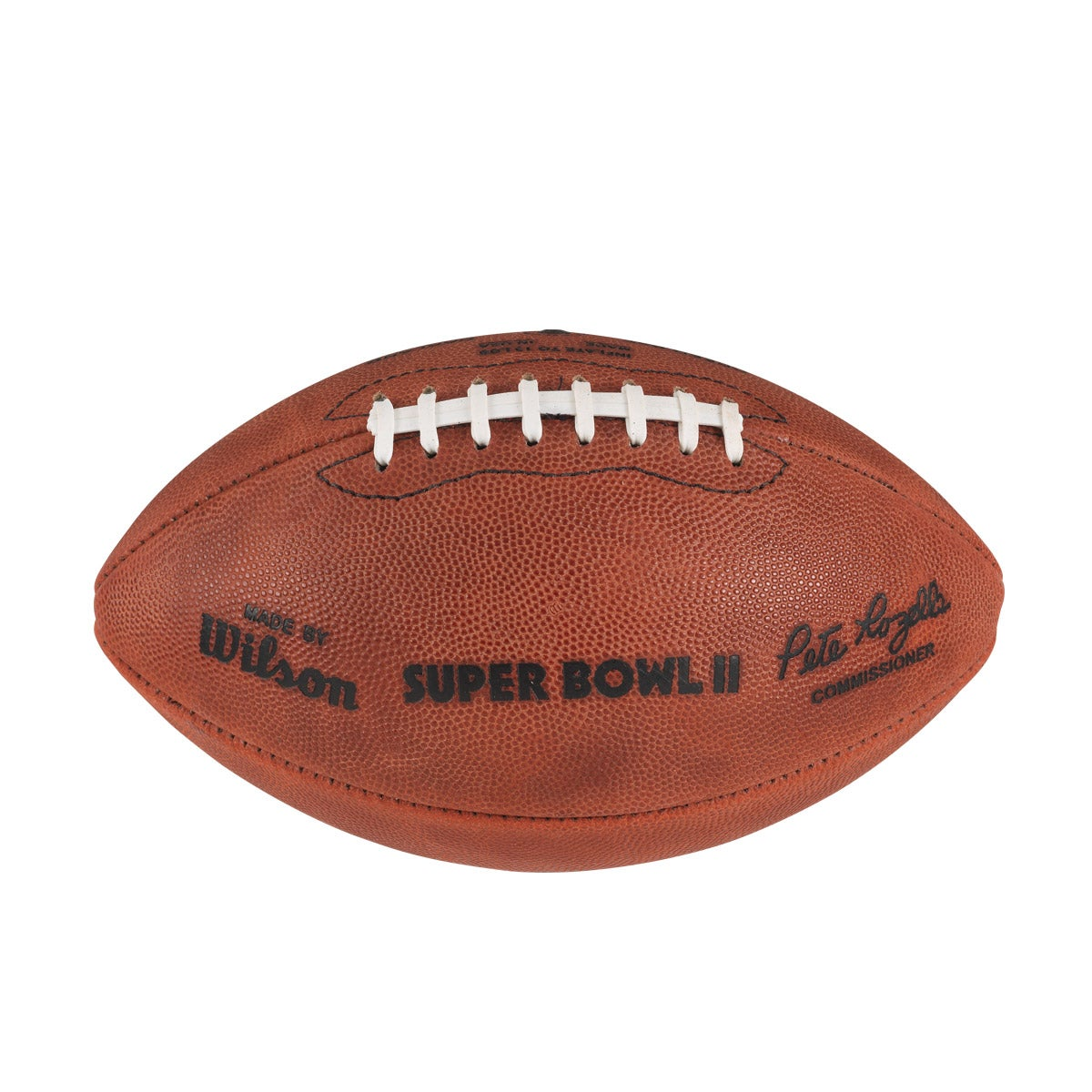 NFL SUPER BOWL II LEATHER GAME FOOTBALL - OFFICIAL (PRO PATTERN)
