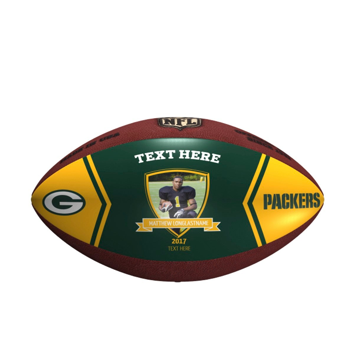 Personalized NFL Green Bay Packers Picture Perfect Football