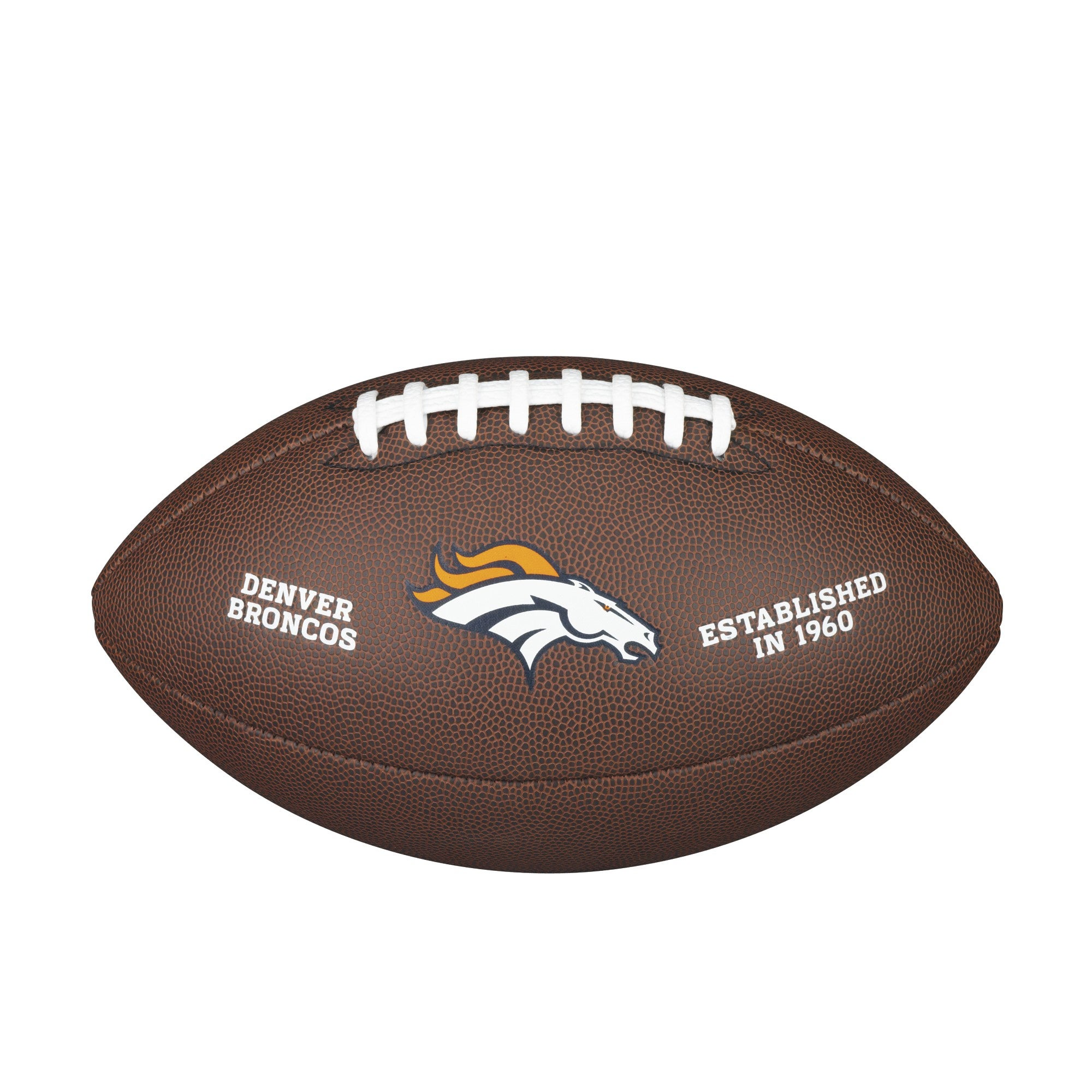 NFL TEAM LOGO COMPOSITE FOOTBALL - OFFICIAL, DENVER BRONCOS