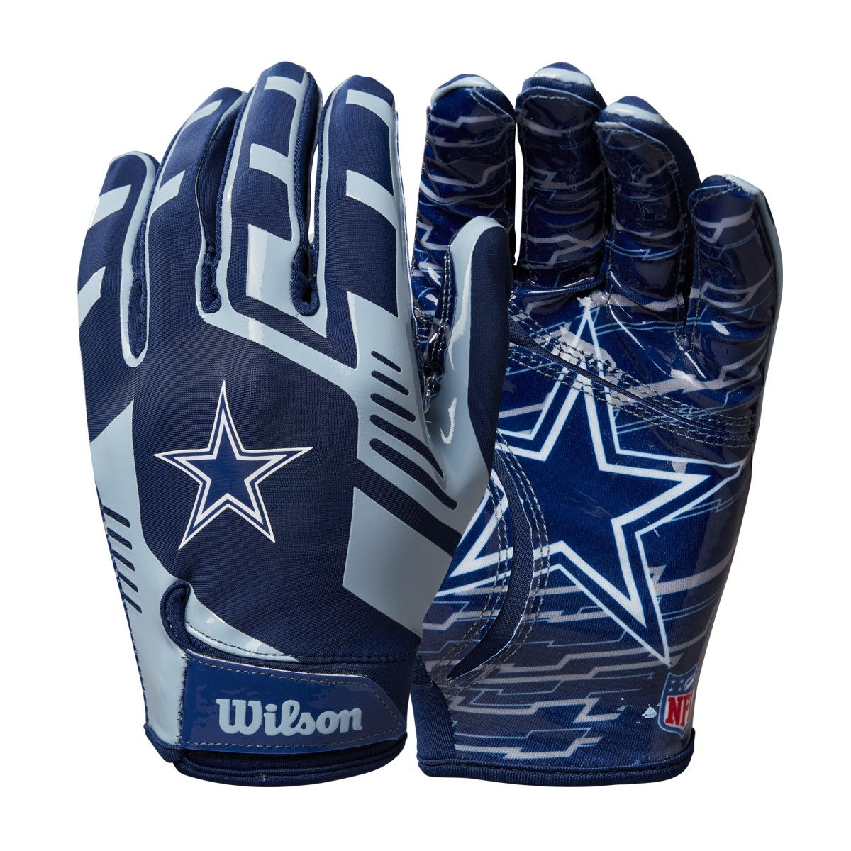 NFL Stretch Fit Receivers Gloves - Dallas Cowboys